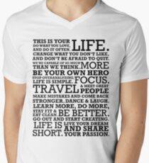 Motivational Manifesto Men's V-Neck T-Shirt