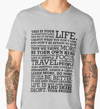 Motivational Manifesto Men's Premium T-Shirt