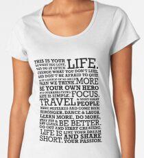 Motivational Manifesto Women's Premium T-Shirt