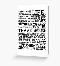Motivational Manifesto Greeting Card