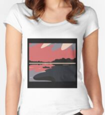lake picture 4 Women's Fitted Scoop T-Shirt