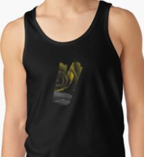 Dark Florals with Bright Yellow Rose Accents Tank Top
