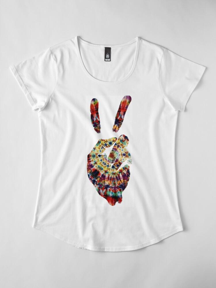 Alternative Ansicht von Hippie Friedenszeichen Premium Rundhals-Shirt