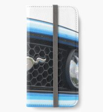 Blue Mustang Grill Emblem iPhone Wallet/Case/Skin