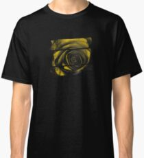 Dark Florals with Bright Yellow Rose Accents Classic T-Shirt