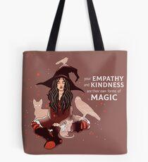 """Bolsa de tela """"Tu empatía y bondad son sus propias formas de magia"""" Bruja"""