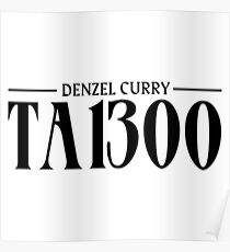 DENZEL CURRY TABOO (HIGHEST QUALITY) Poster