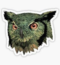 Owl - Red Eyes Sticker