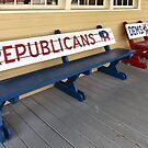 Republican and Democrats Town Hall Benches by Catherine Sherman