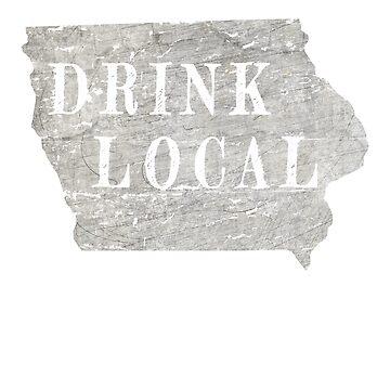 Drink local Iowa craft beer design by jhussar