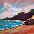 Half Moon Bay #2 ~ Oil painting by Roz McQuillan