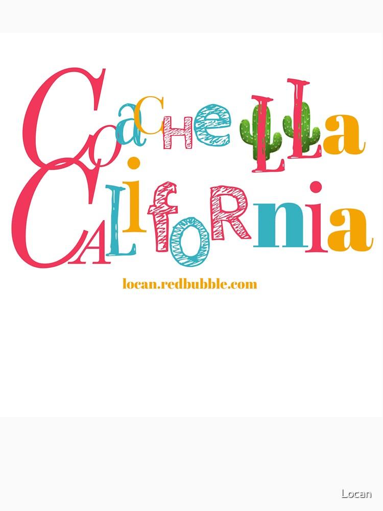 Coachella California | In Color | On White by Locan