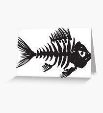 Fish bone Greeting Card