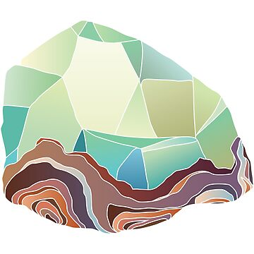 Green Geode Crystal Cluster by EarthlyIndigo