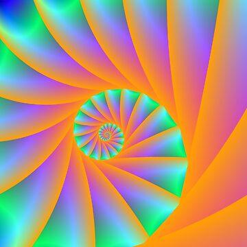 Fractal Spiral by Objowl