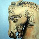 Assyrian chess piece. by Robert David Gellion