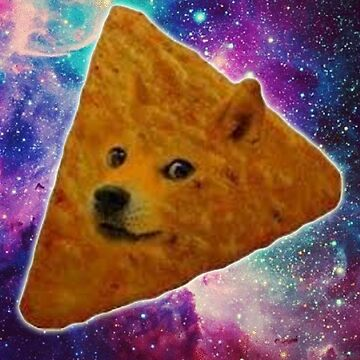 Doge Dorito Outerspace by adjua