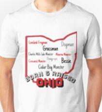 Ohio Cryptids - Born & Raised Unisex T-Shirt