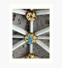 Detail of the ceiling (Exeter cathedral) Art Print
