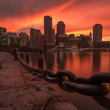 Sunset from Fan Pier, Boston by mattmacpherson