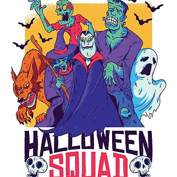 Squad Halloween Vampire Frankenstein Ghost by ZippyThread