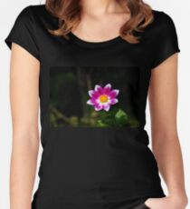 Vivid Flower Fitted Scoop T-Shirt