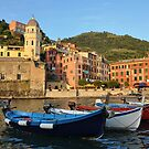 Italy - Vernazza Harbor by Beth A.  Richardson