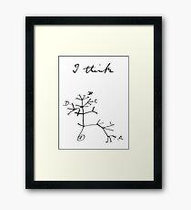 Darwin - Tree of Life - I Think Framed Print