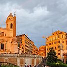 Italy - Spanish Steps at Sunset by Beth A.  Richardson