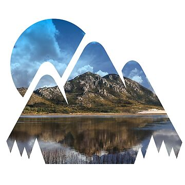 Landscape mountains with water reflection by phys