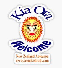 Kia Ora, New Zealand, Aotearoa Sticker