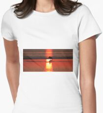 Sunrise Silhouette Womens Fitted T-Shirt