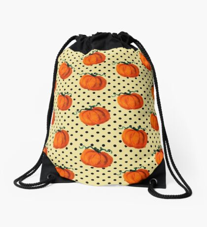 Pop Art Cascading Pumpkins Drawstring Bag