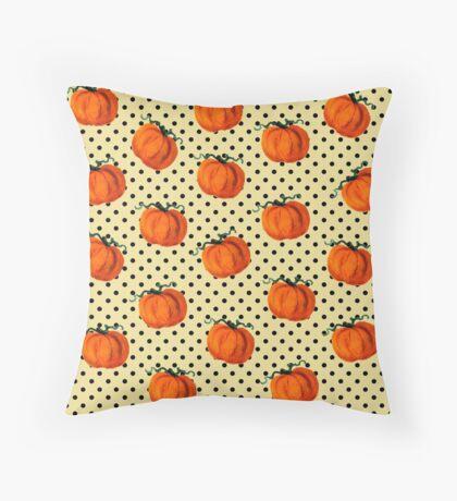 Pop Art Cascading Pumpkins Throw Pillow