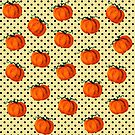 Pop Art Cascading Pumpkins by LadyBaigStudio