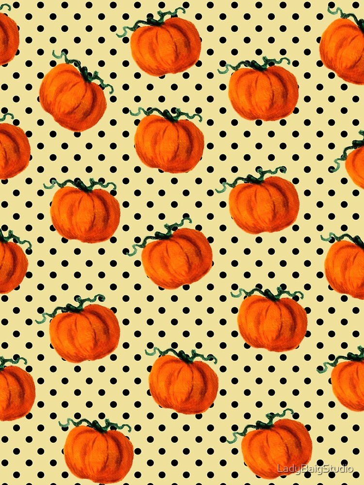 Pop Art Cascading Pumpkins by LadyBaigStudio