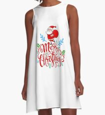 Merry Christmas Santa Adorable Cute Graphic Gift Present A-Line Dress