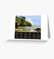 Caribbean beach 2019 calendar Greeting Card