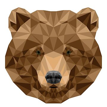 Geometric Grizzly Bear by TheLivingEthan