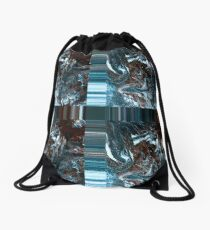 Creation blues and browns Drawstring Bag