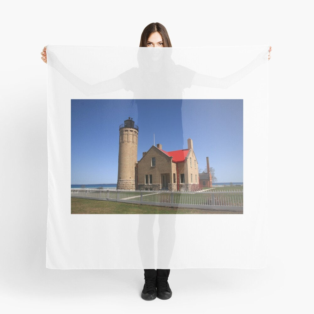 Lighthouse - Mackinac Point, Michigan Scarf