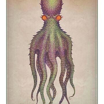 Gigantic Octopus by vladimirsart