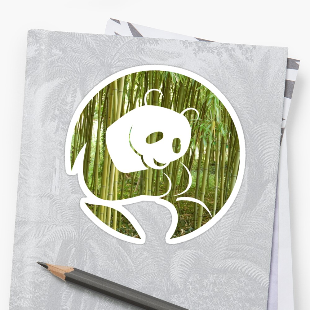 Panda Bamboo Forest Stickers By Phys Redbubble