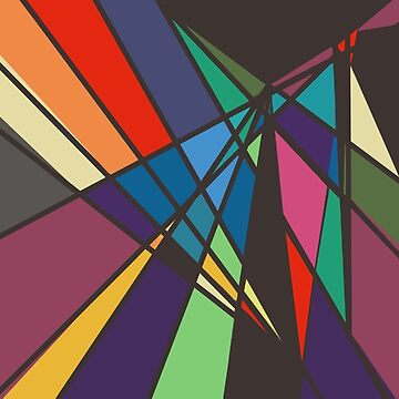 Multi-Color Triangles Abstract by JoannieKayaks