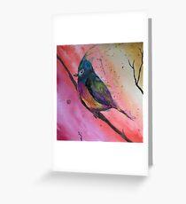 Chubby Watercolor Bird Greeting Card