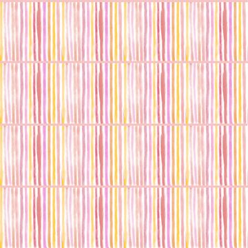 Hibiscus Squiggly Lines in Pink, Peach, Yellow and Lilac by podartist