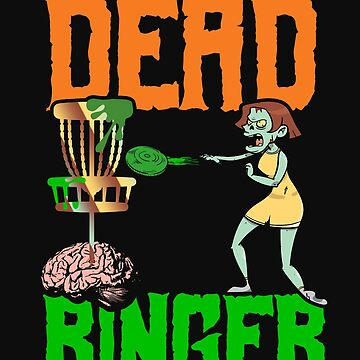 Disc Golf Funny Halloween Zombie Disc Monster Banging Chains by normaltshirts