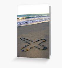 Rock Cross & Ocean Greeting Card