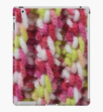 Pink and Green Crochet Stitches iPad Case/Skin