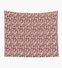 Pink and Green Crochet Stitches Wall Tapestry